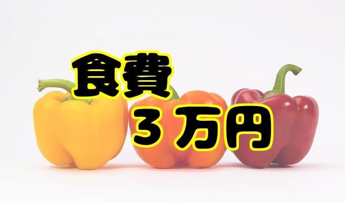 食費3万円